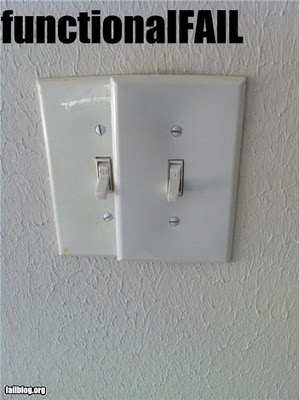 wrong light switches